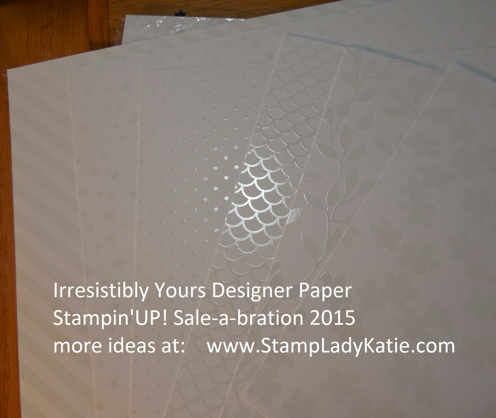 pre-embossed Designer Paper - Stampin'UP! 2015 Sale-a-bration option