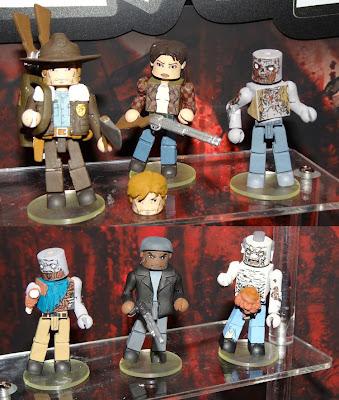 The Walking Dead Minimates - Rick Grimes, Lori Grimes, Zombie, Zombie, Tyreese & Zombie Action Figures