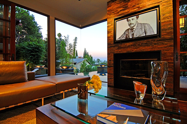 Modern living room in Calvin Harris's new celebrity house