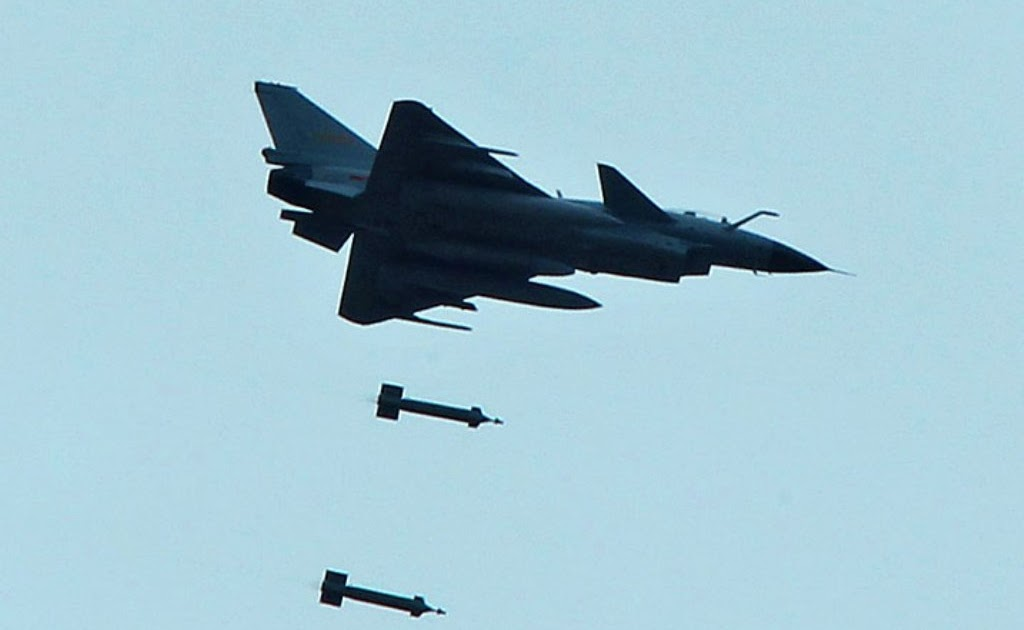 PLAAF's J-10A Fighter Jet Dropping LT-2 Laser Guided Bombs ...