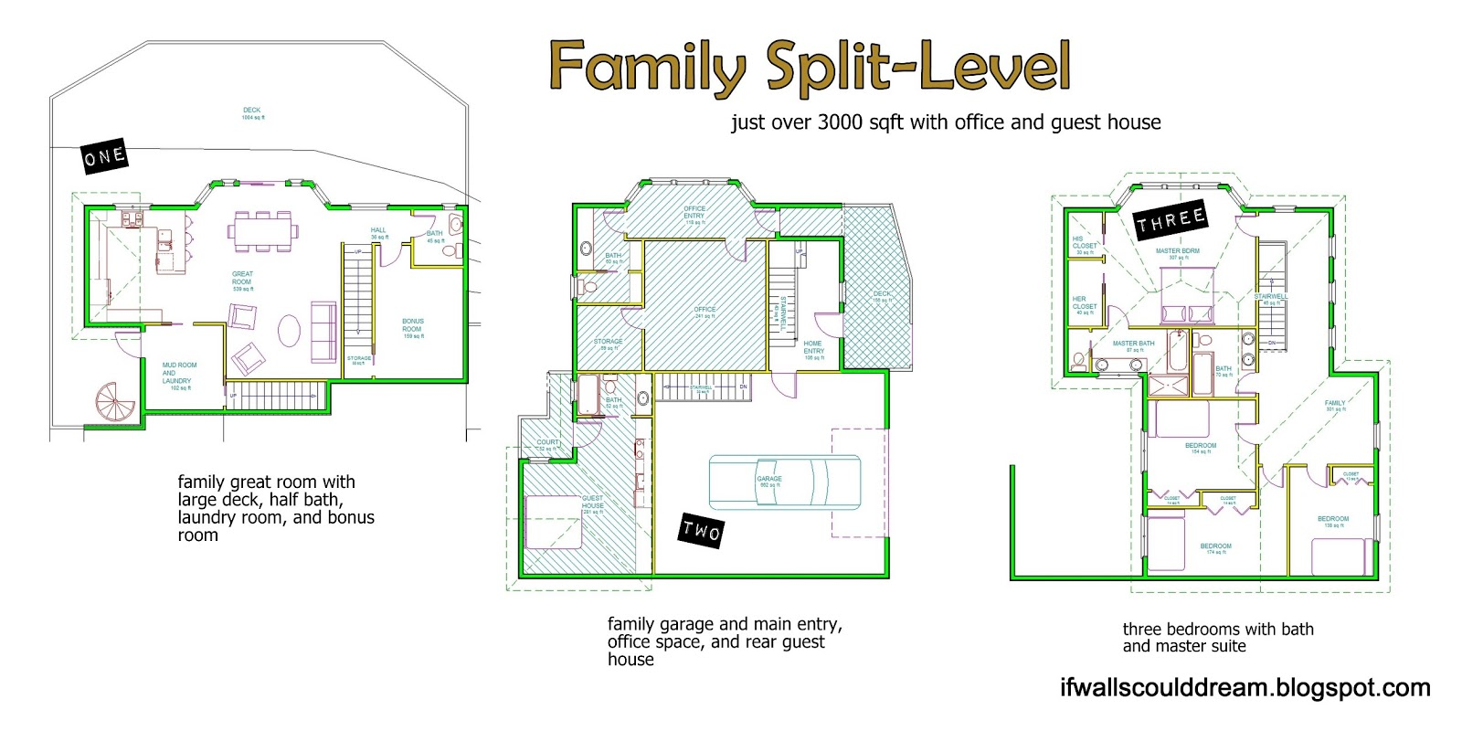 If walls could dream family split level Split level house plans