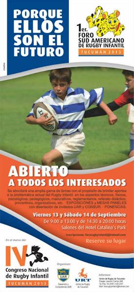 Foro Sud Americano de Rugby Infantil en Tucumán