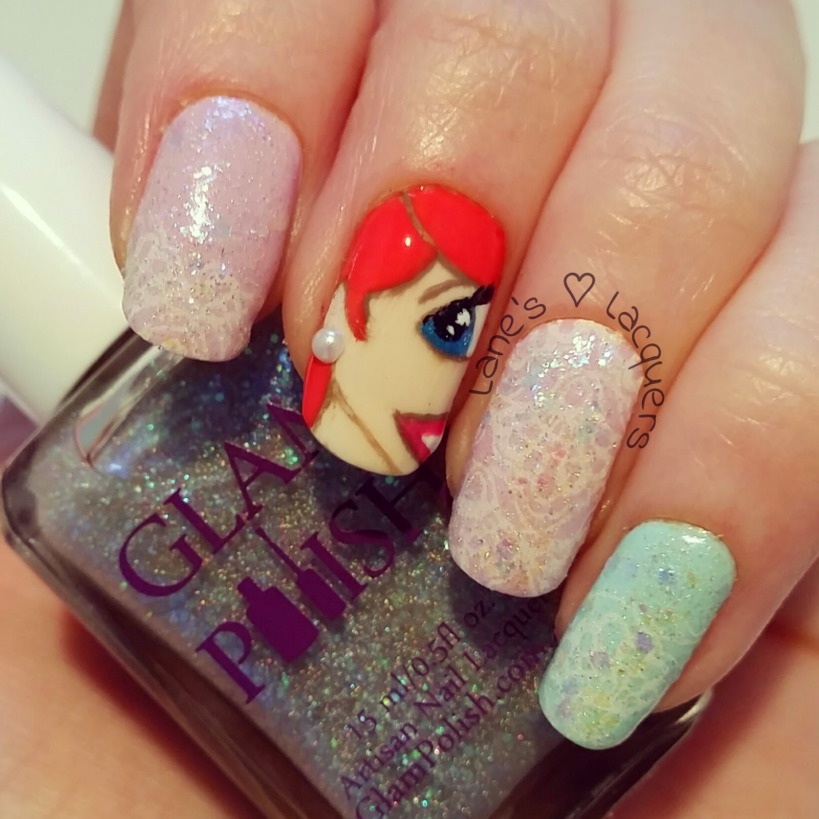 barry-m-disney-little-mermaid-ariel-lace-glitter-nail-art