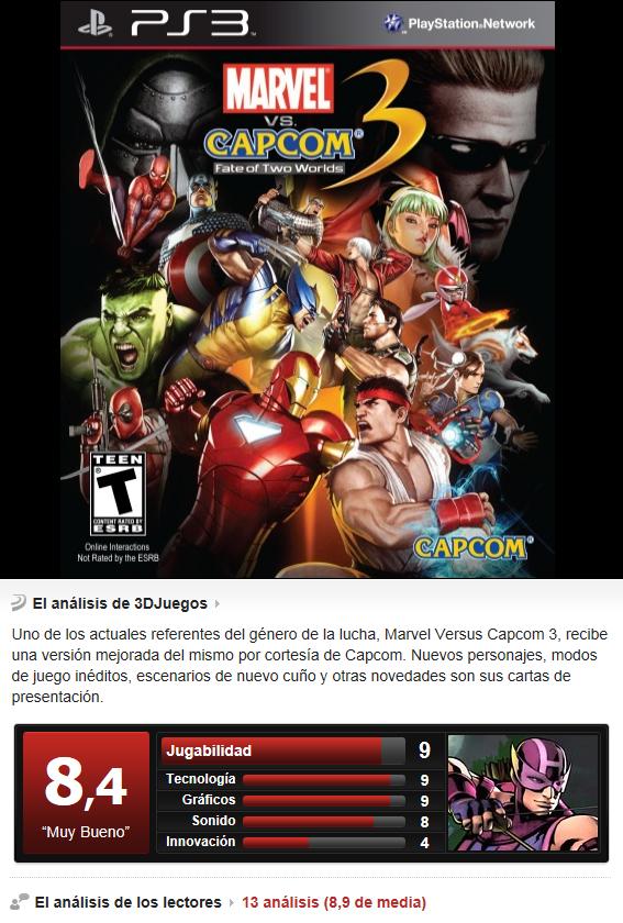 Marvel Vs Capcom 3 [PS3][Multi][3.55]