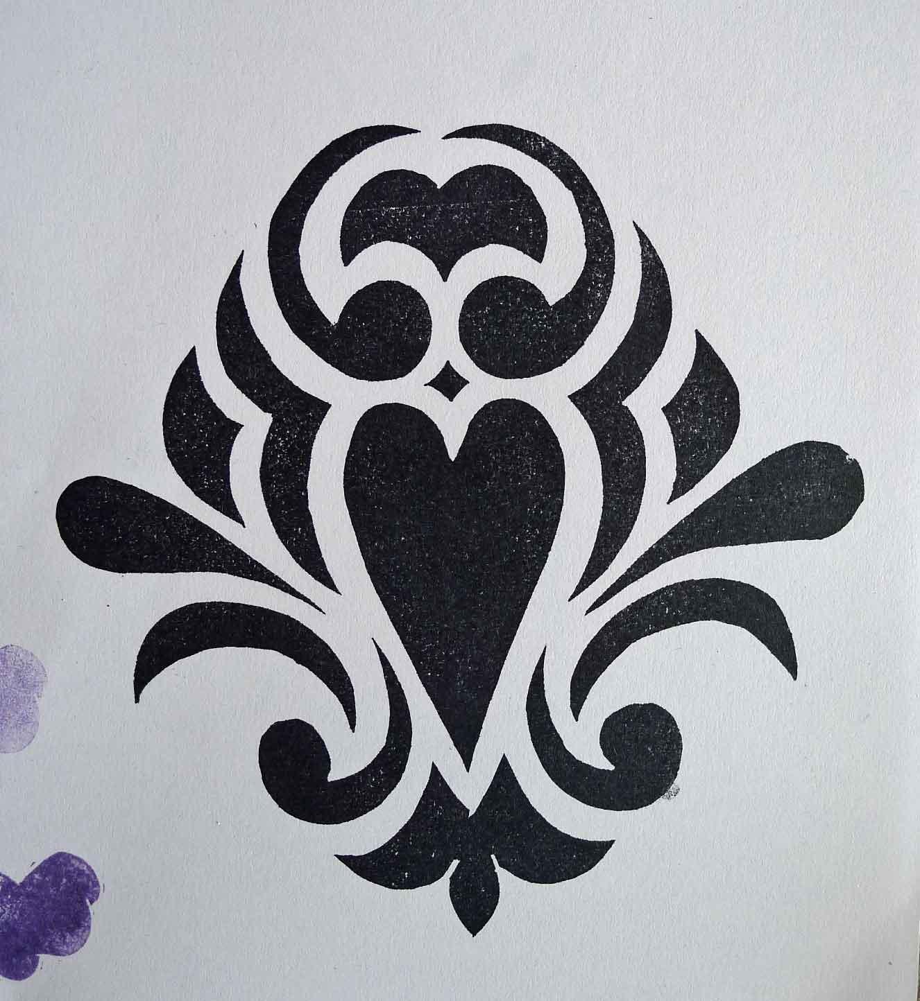 Simple Damask Pattern Stencil