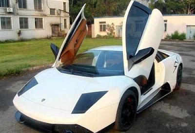 Lamborghini, made in, buatan, china, palsu, tiruan, hampir sama, serupa, asli, asal, gambar, hebat, kenderaan, replika, bayar, cantik, ciri, spesifikasi, enjin, tayar, kemas, hiasan