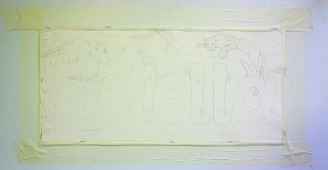 Work in progress, Estella. Jungle model. Female name. Elizabeth Casua tHE 33ZTH oRDER