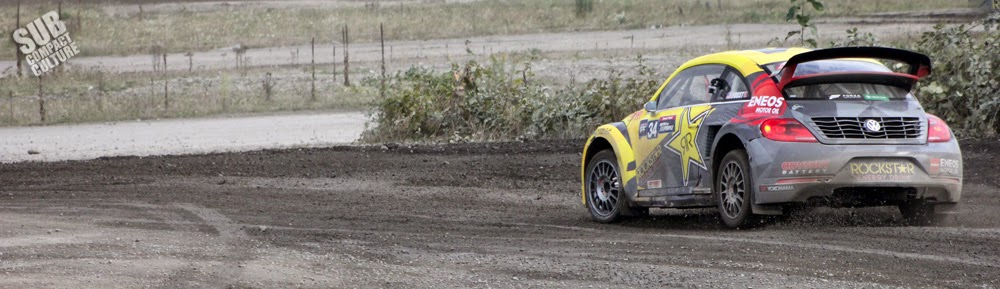 Global Rallycross Volkswagen Beetle at the 2014 GRC Seattle