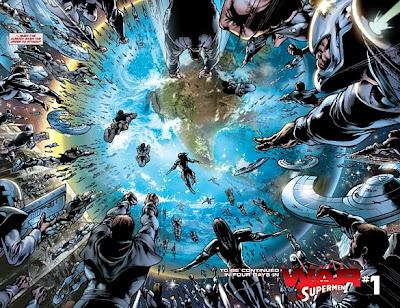 Superman, War of the Supermen #0, Kryptonians attack Earth