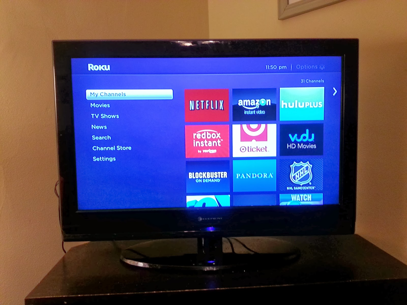 Roku Channels Screen