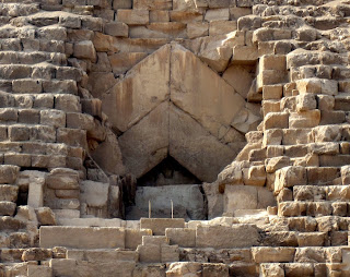 Главный вход в пирамиду Хеопса - волновой канал