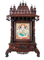 A typical rosewood mantapa for Hindu worship