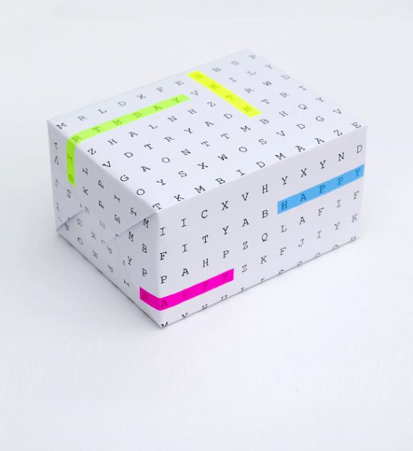 Packaging navidad - Sopa de letras