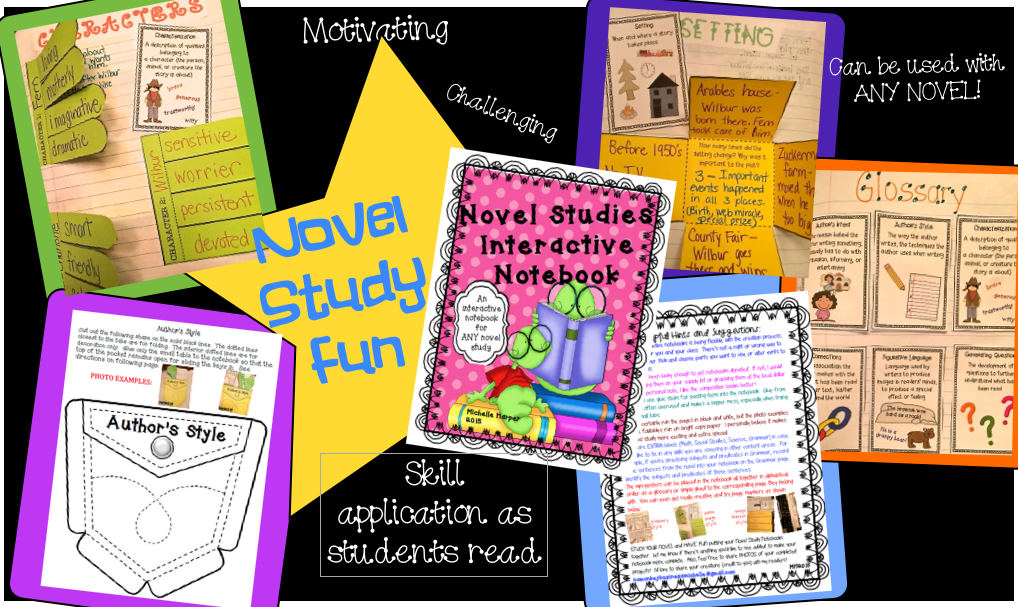 https://www.teacherspayteachers.com/Product/Novel-Study-Interactive-Notebook-1722932