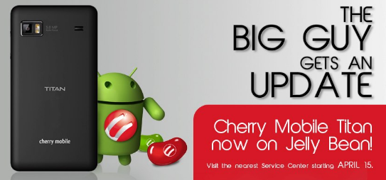 Cherry Mobile Titan Gets Android 4.1 Jelly Bean - Specs and Price