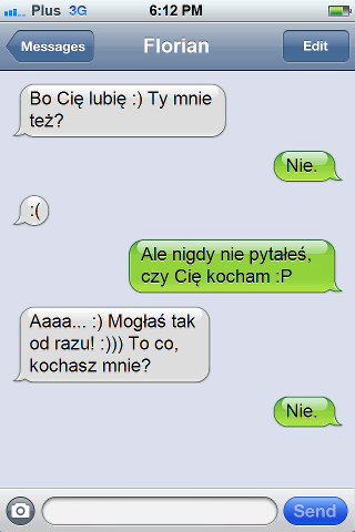 Funny boyfriend and girlfriend text messages