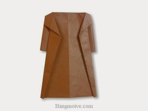 Cách gấp, xếp áo choàng bằng giấy origami - Video hướng dẫn xếp hình quần áo - How to fold a Coat