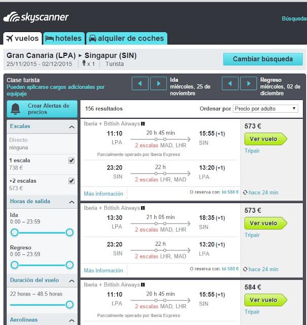 Como volar de Gran Canaria a Asia por menos de 600 euros i/v