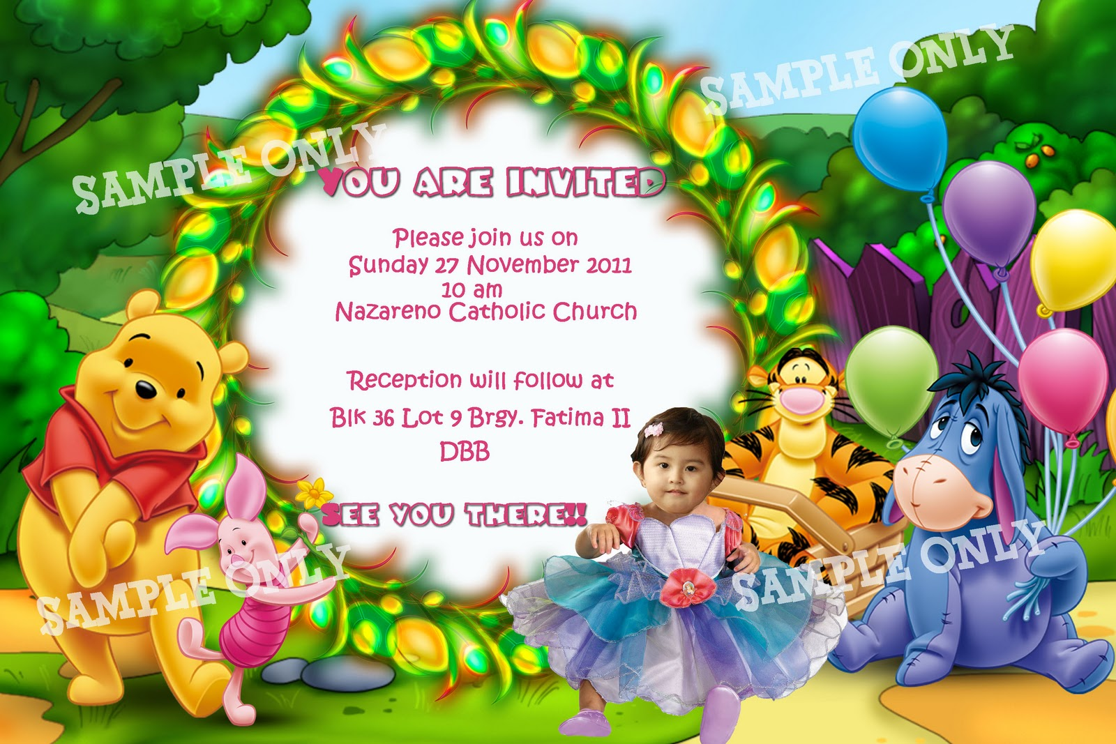 For your creative graphic design and printing needs sample sample baptismal invitation girls altavistaventures Gallery