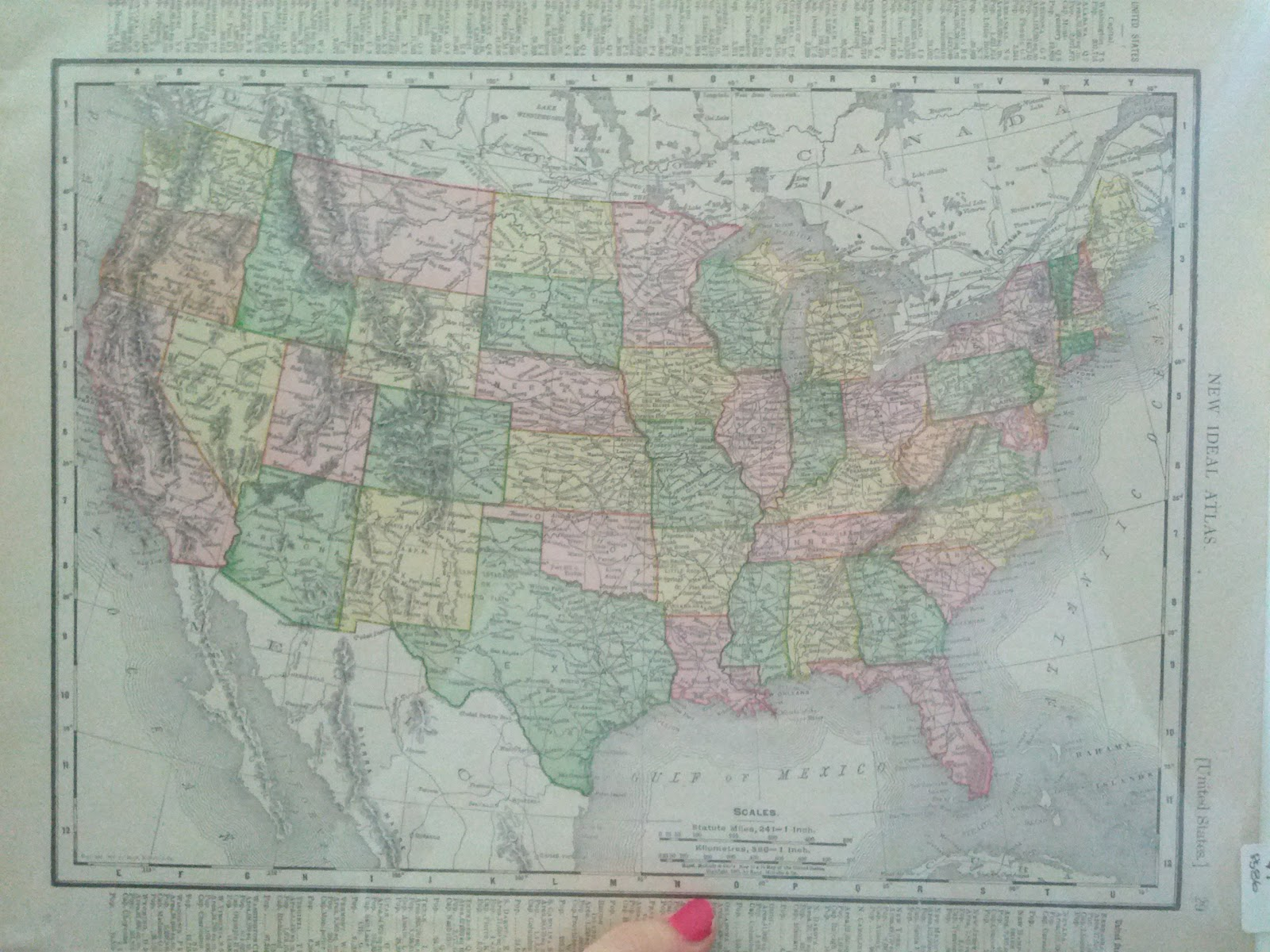 Everydaymatters september 2012 on a bulletin board and put pushpins in each location weve been to i looked on ebay and didnt have much luck but found this 1907 us map today for 7 gumiabroncs Choice Image