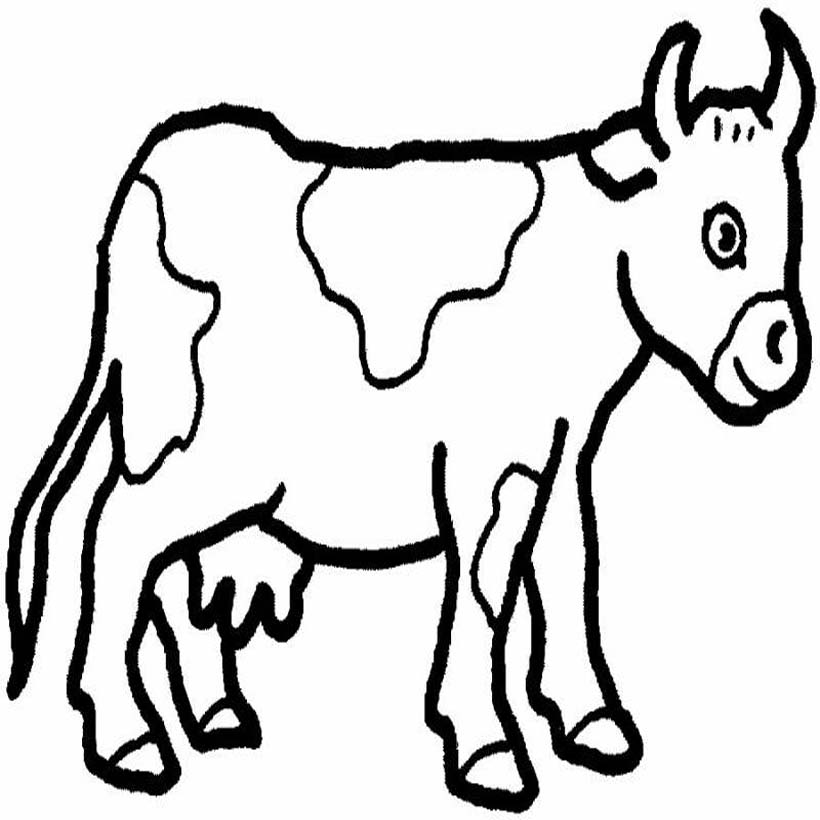 coloring coloring pictures of farm animals for kids