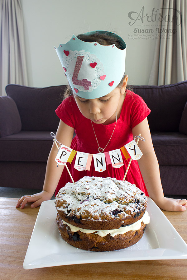 Gratitude for Days Birthday Cake Banner ~ Susan Wong