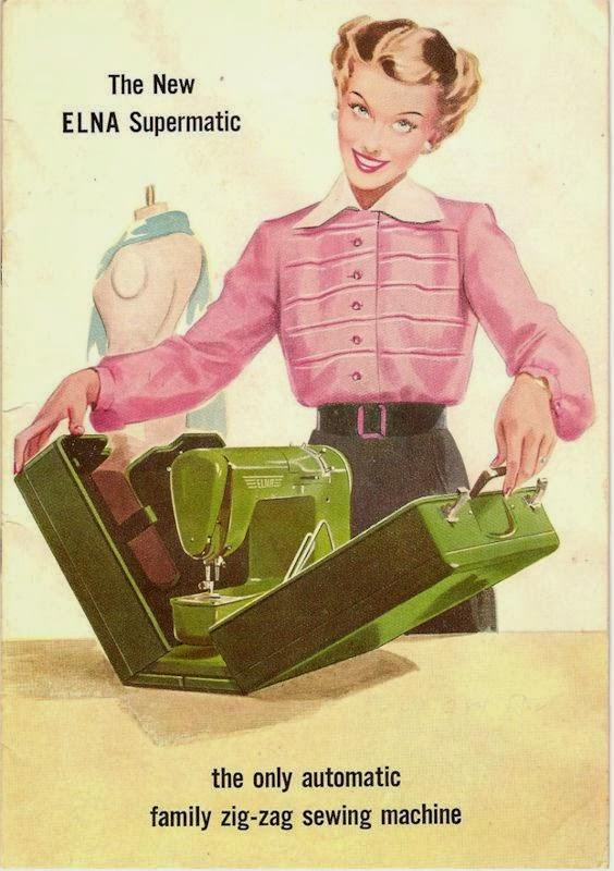 ilustración de maquina de coser