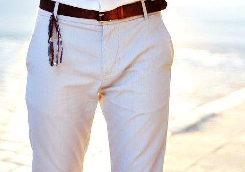 Cream Shirt And Beige Pants Colour Combination For Men