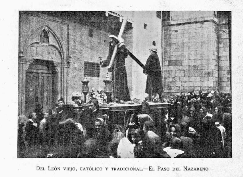 Ilustración del paso del Nazareno. Semanas Santas leonesas. León y la Inmaculada. León. 1937-1938