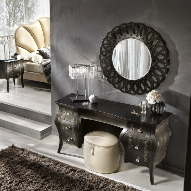 Catchy ideas for functional dressing table designs with for Dressing table design 2014