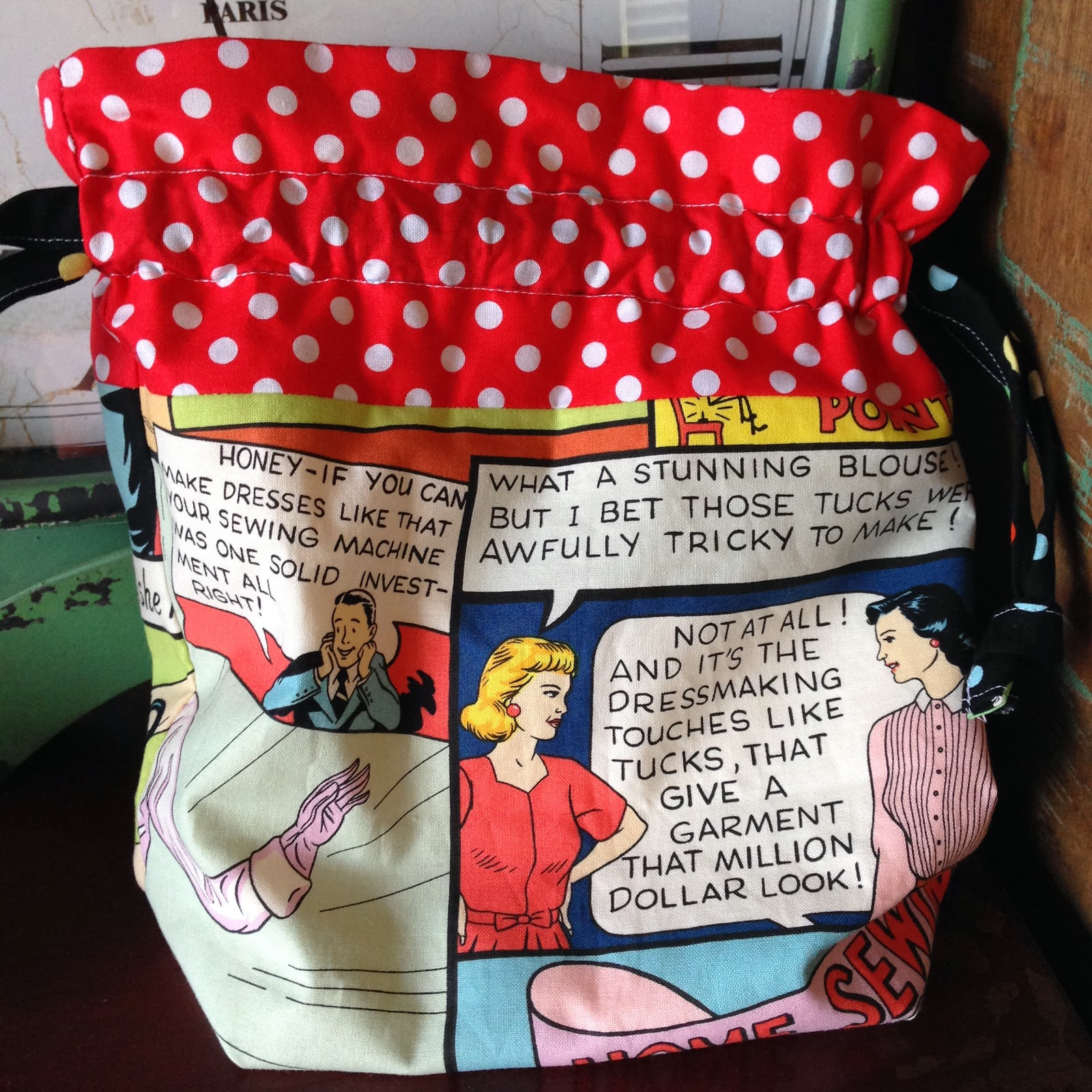 how to make a lined drawstring bag