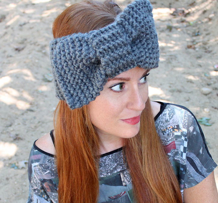 Knitting Pattern For Headband With Bow : Bow headband [knitting pattern] - Gina Michele