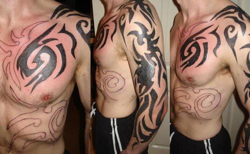 shoulder shoulder tribal to tattoo Arm design: Tribal tattoo And Shoulder For Men celebrity Tattoos