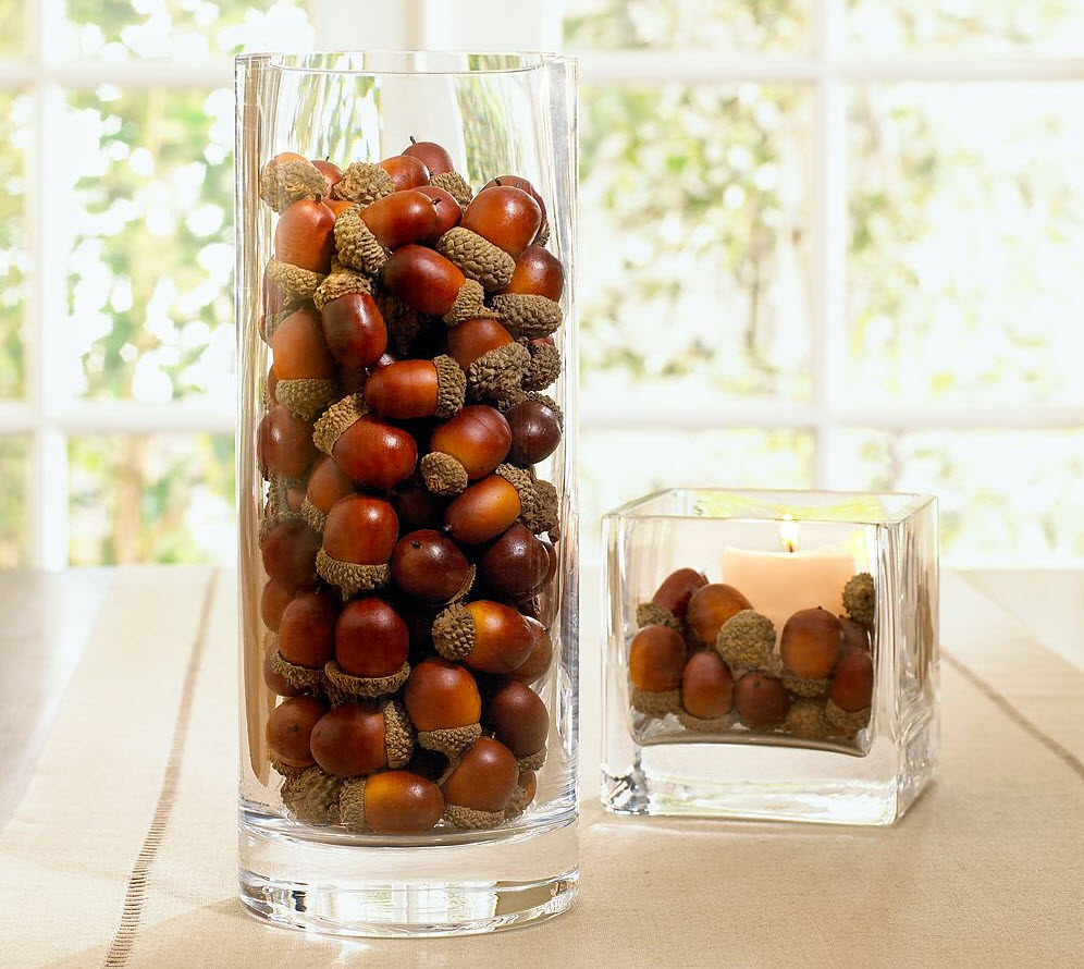 House blend autumn decorating favorites from pottery barn pottery barn has a variety of vase fillers from these acorns to crab apples and many other choices i was looking for more faux cranberries but was reviewsmspy