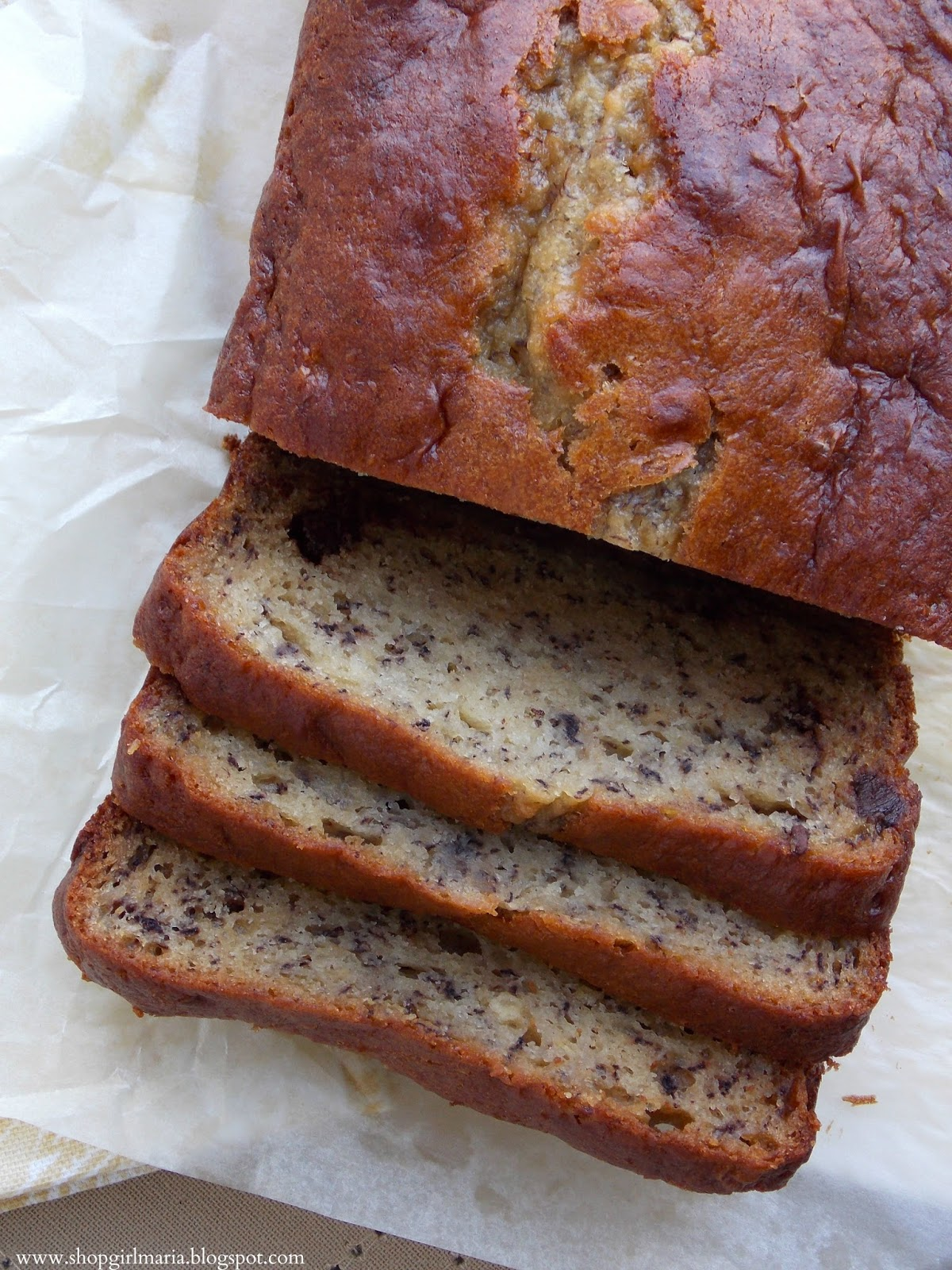 Chocolate Chip Banana Bread with Greek Yogurt | A Homemade Living