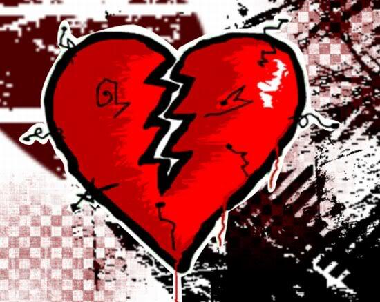 Dibujos de corazones rotos para colorear - Imagui