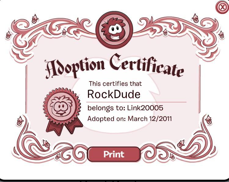 adoption certificate template .