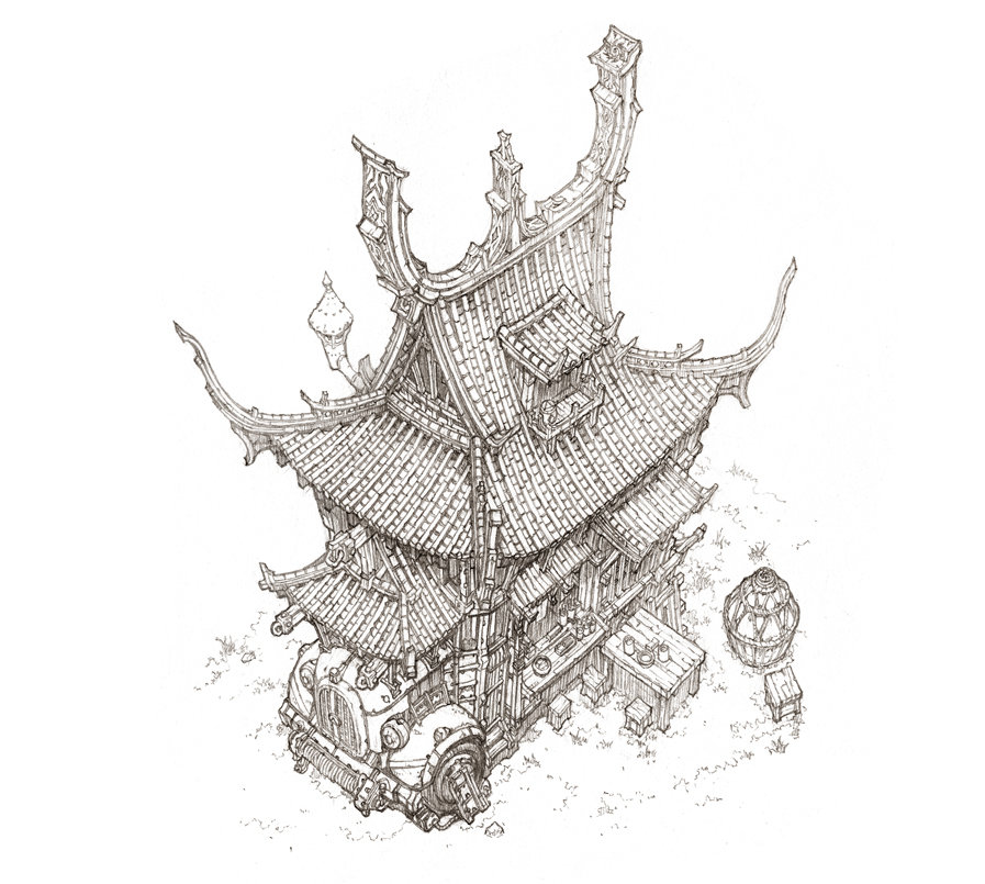 03-Jung-Min-Seub-Architecture-in-Super-Detailed-Fantasy-Drawings-www-designstack-co