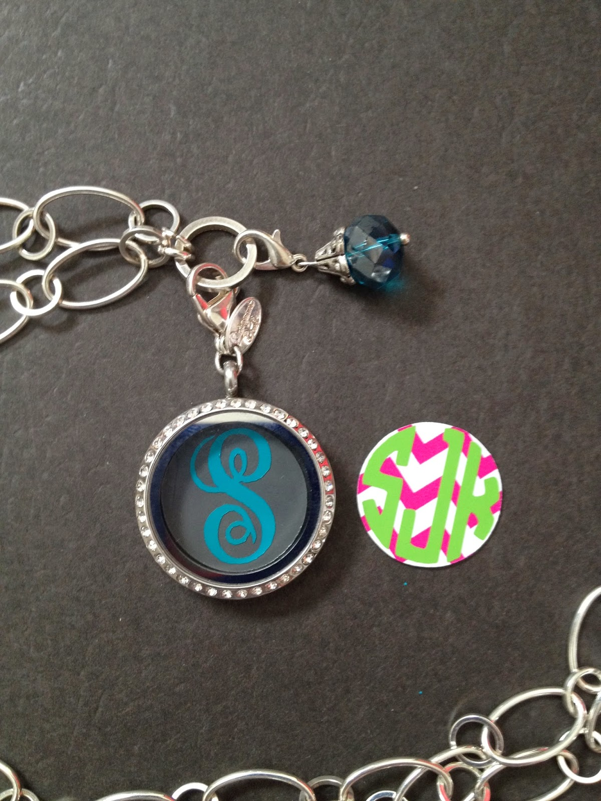 whatacuteidea origami owl memory locket monogrammed charms