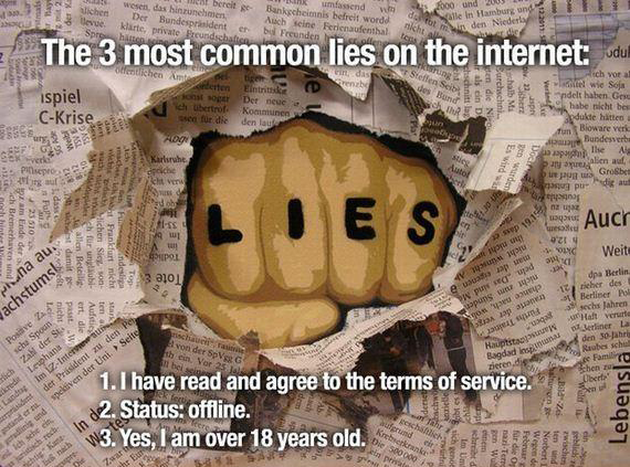 The Most Common Lies On The Internet
