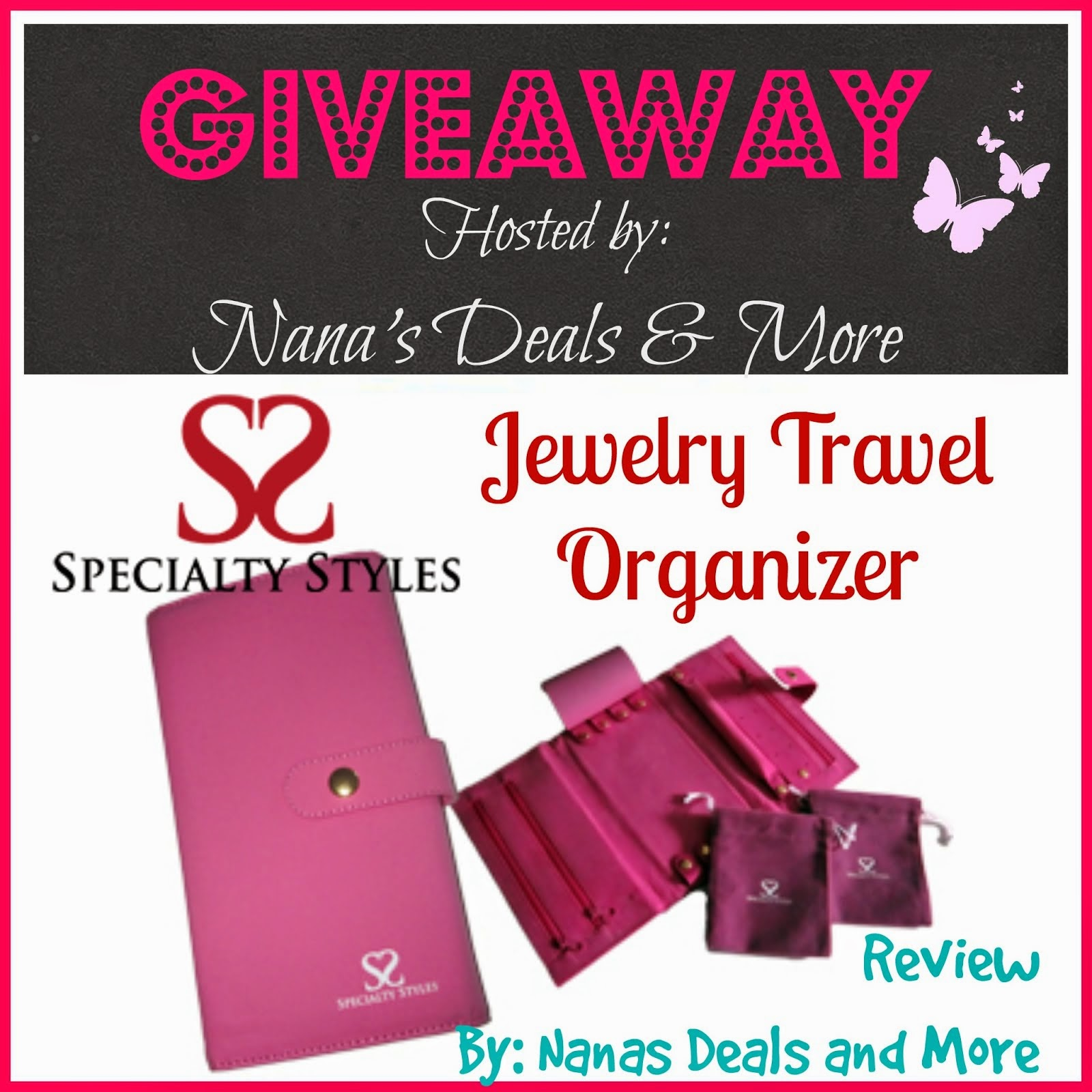 Win this Travel Jewelry Organizer - Ends Soon !