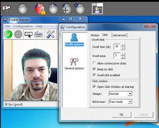 cara kontrol kendali mouse pc dengan aplikasi e-viacam