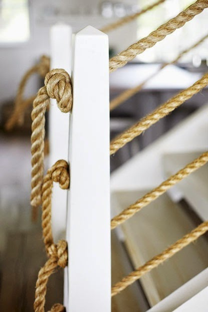 Focal point styling 20 home decorating ideas with rope for Rope designs and more