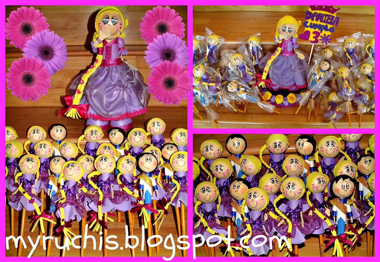 Decoracion de rapunzel para fiestas infantiles - Mesas infantiles disney ...