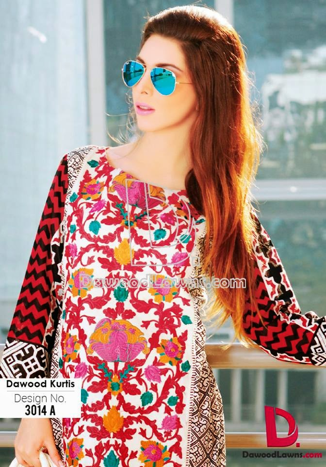 Summer Embroidered Lawn Kurti Catalog