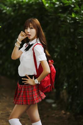 Lee Yoo Eun Cutie Schoolgirl