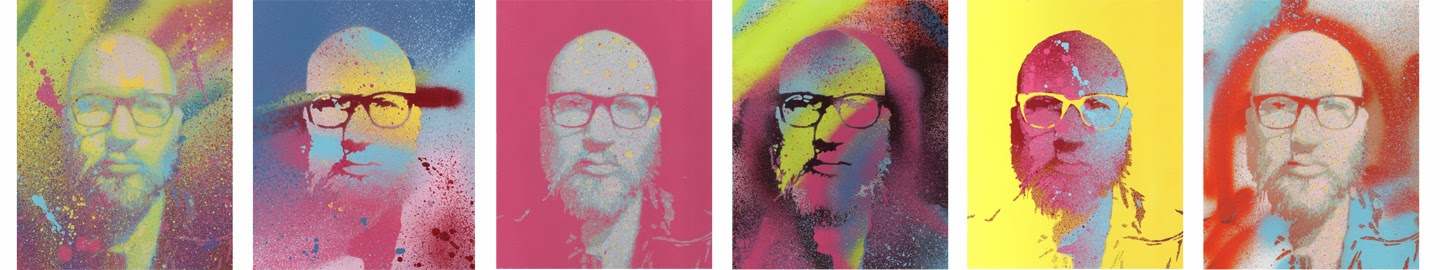 Craig Paul Nowak stencil self portraits