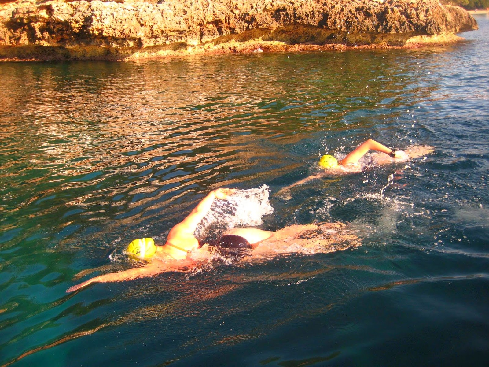 Channel swim training