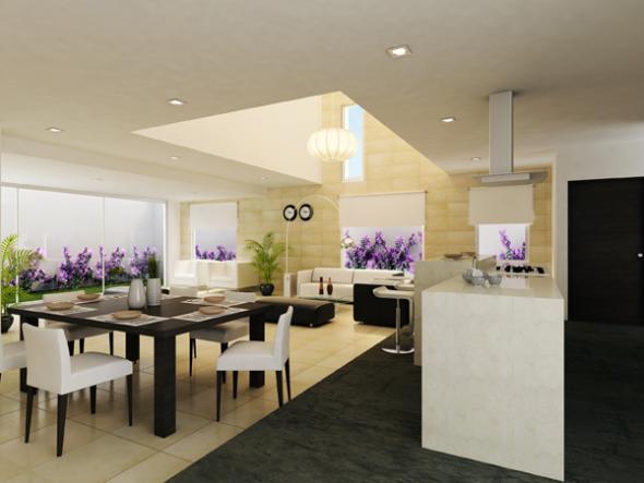 estilos de interiores minimalistas para el rea de sala comedor