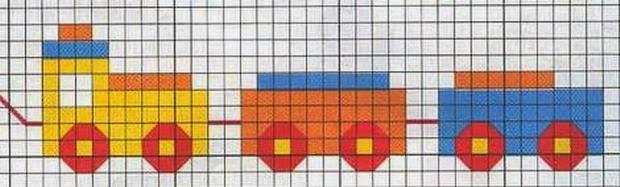 Grande raccolta di schemi e grafici per punto croce free for Punto croce trenino